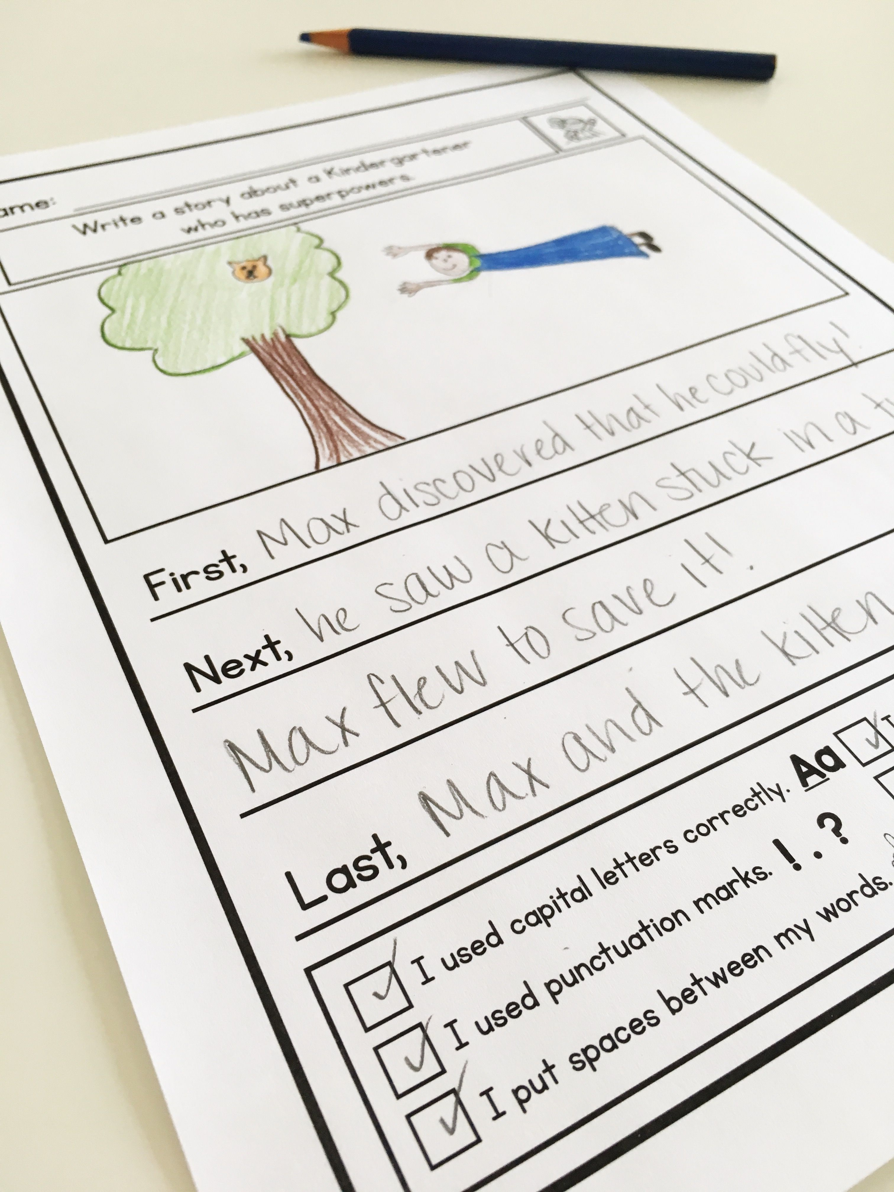 Kindergarten Narrative Writing Prompts For Differentiation