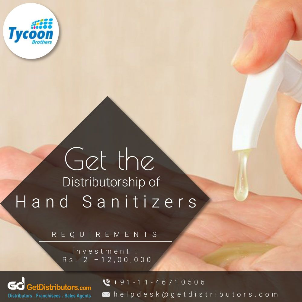 Get The Distributorship Of 100 Odourless Skin Friendly Hand
