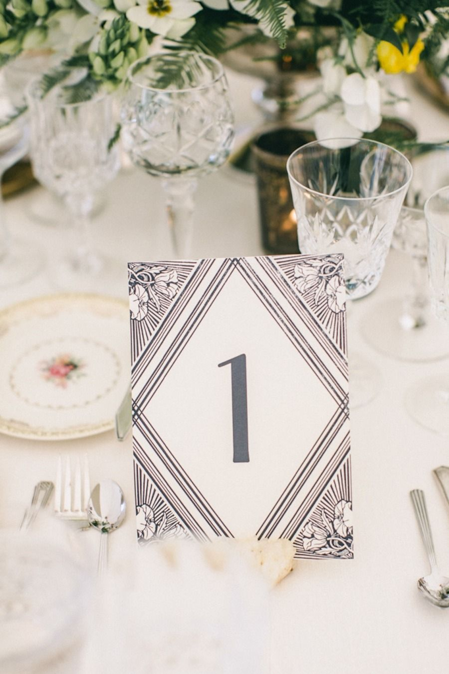 1920s Inspired Healdsburg Wedding | Table numbers, Art deco and 1920s
