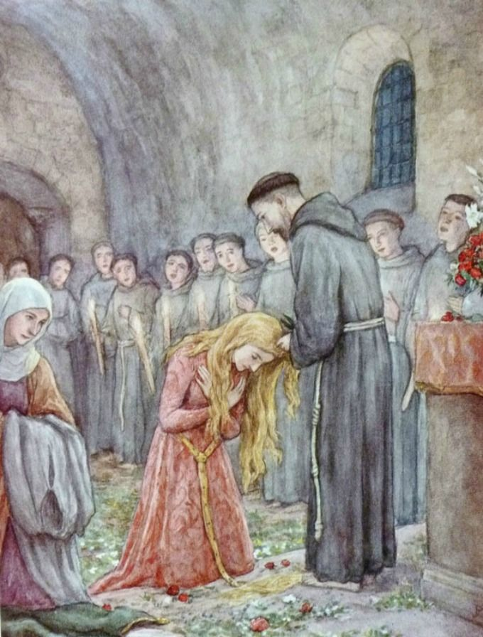 St. Clare of Assisi: From Noblewoman to Lady of Poverty | Clare of assisi,  St francis, Assisi