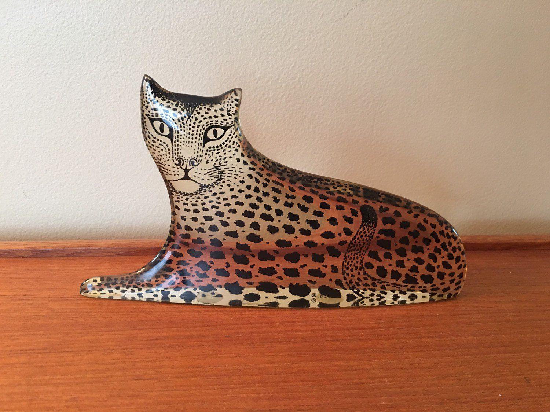 Vintage Abraham Palatnik Lucite Leopard Figurine Mid Century Modern Cheetah Figurine Lucite Cat Palatnik Leopard Pa Fancy Packaging Vintage Plastic Shelves