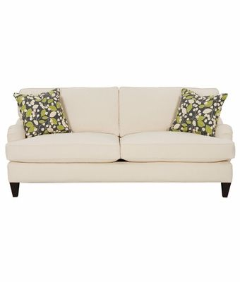 Arianna fabric upholstered apartment size sofa dimensions W78\