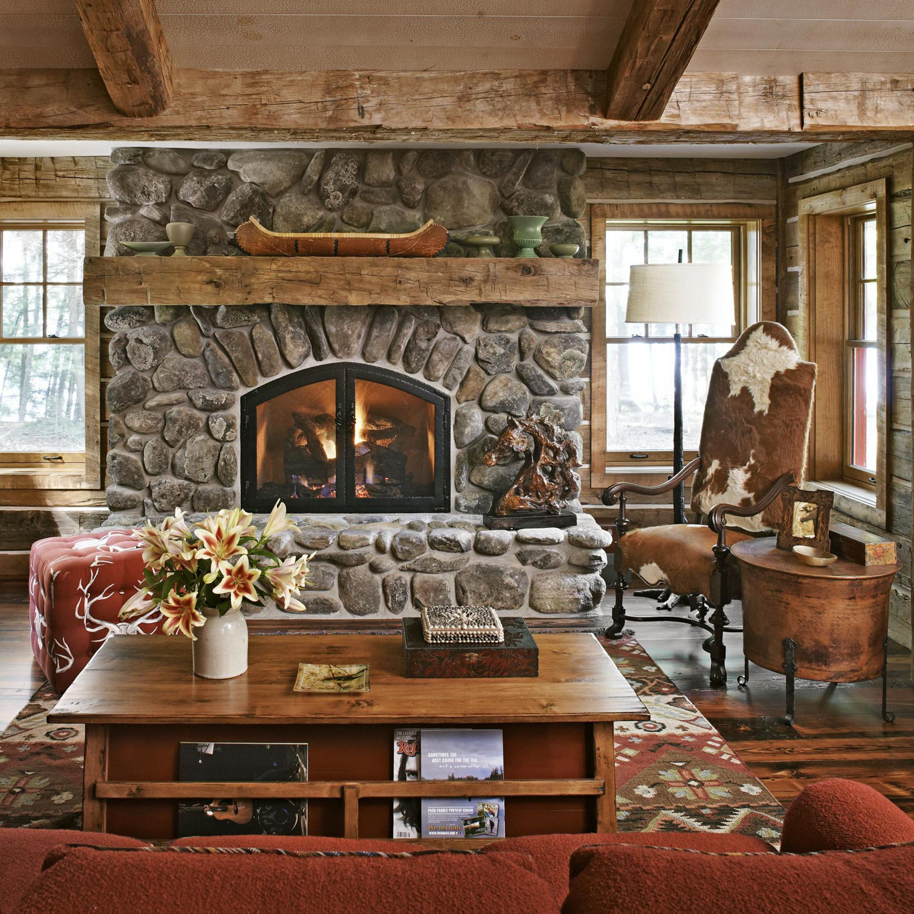 25+ Amazing Rustic Fireplace Design Ideas For Cozy Winter