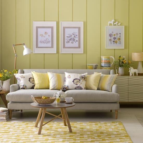 Yellow Family Living Room