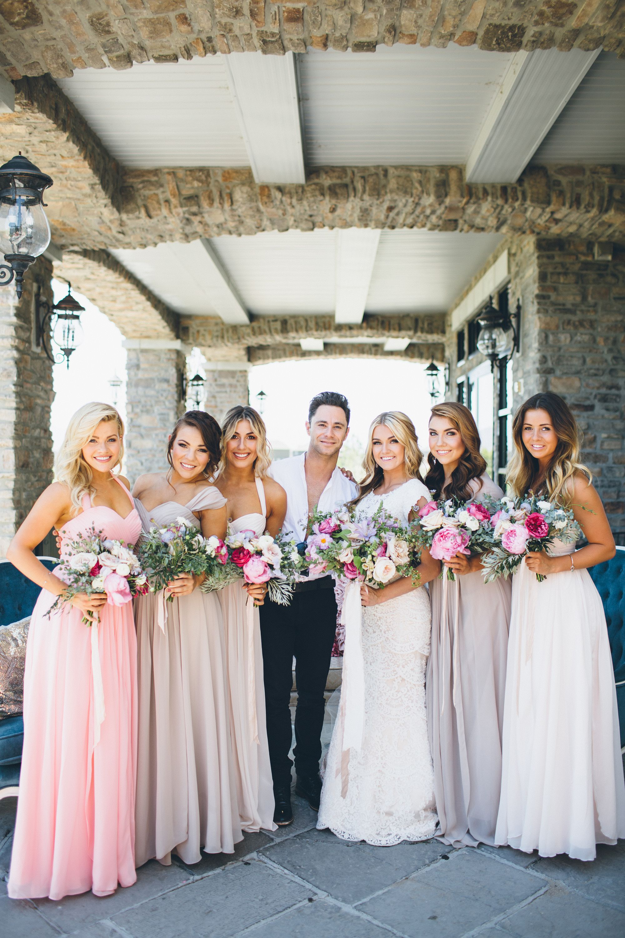 Lindsay arnold wedding dancing with the stars bridal party lindsay arnold wedding dancing with the stars bridal party blush bridesmaid dresses ombrellifo Choice Image