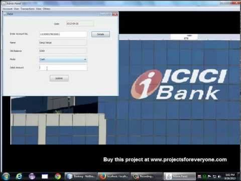 Banking Software Project In Java With Mysql Jdbc Swing Banking Software Software Projects Mysql