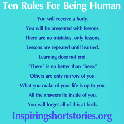 Short Stories In Quotes: Cardinal Rules For Being #Human