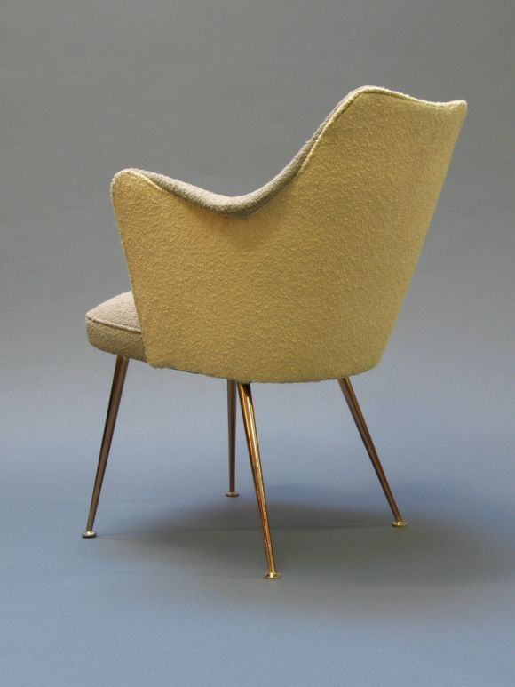 Gustavo Pulitzer Finali; Brass Legged Chair for Incres Cruise Lines, 1959.
