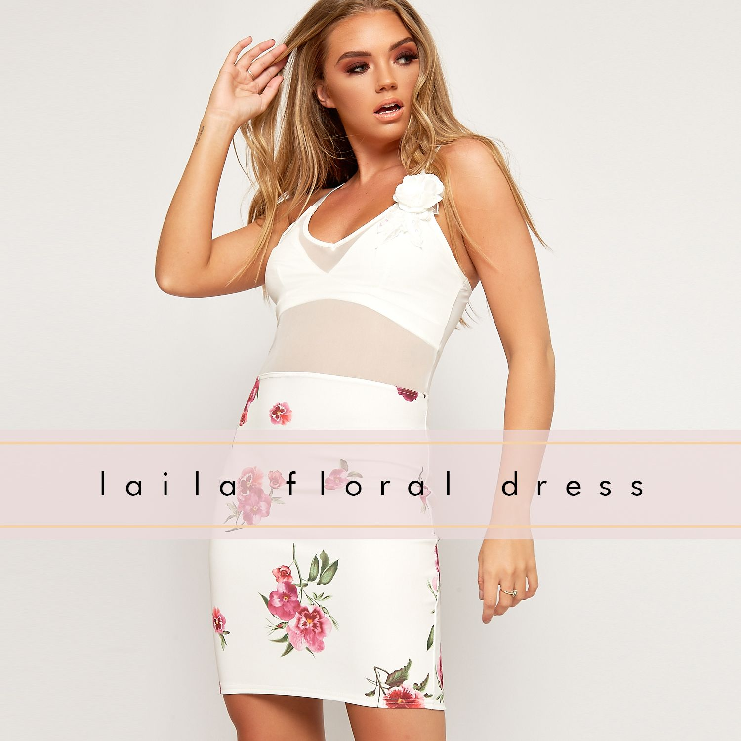 Plunge into summer with this cheeky floral bodycon dress complete