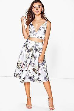 114f7f0d7e45 Petite Jodie Floral Bralet + Aline Midi Skirt Co-ord   Fashion ...