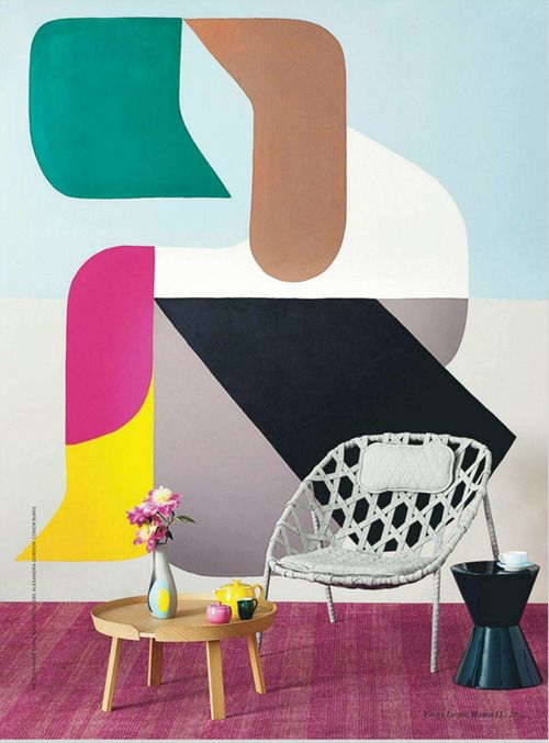 Great picture of the Coracle Chair by Benjamin Hubert in the March 2013 issue of Vogue Living.Photograph by Craig Wall