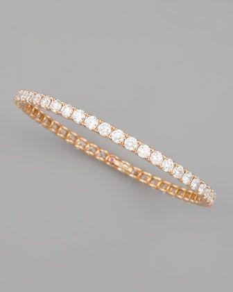 Roberto Coin 64mm White Gold Diamond Eternity Bangle, 11.5ct