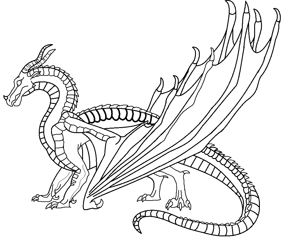 Wings of fire dragon coloring pages ~ The scene from Wings of Fire: The Dark Secret where ...