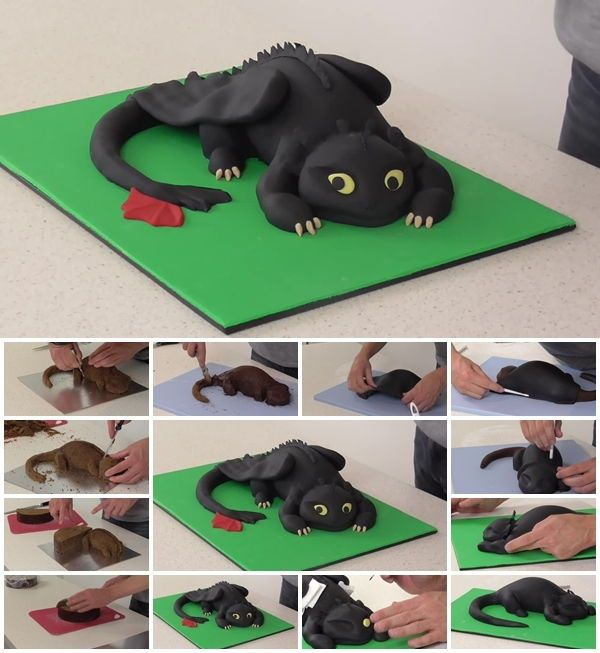 How To Make Toothless Cake How To Train Your Dragon In
