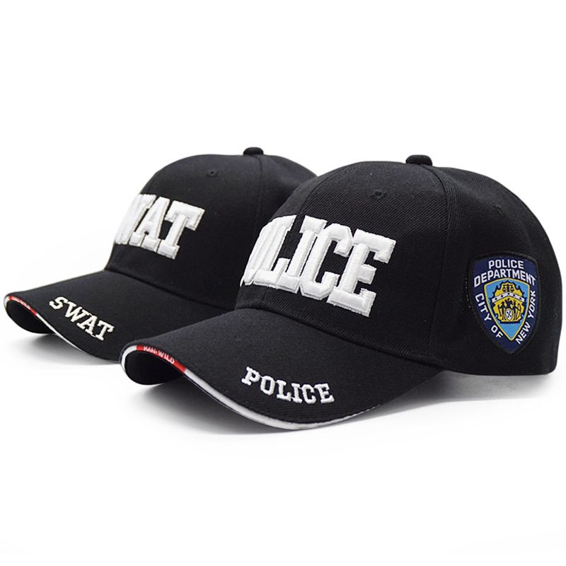 93a19515188 2018 Men Police Tactical Cap Swat Baseball Cap Embroidery Letter Hat  Casquette  fashion  clothing
