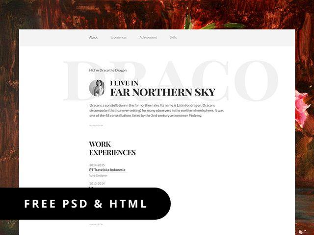 Resume Template  Psd  Html  Web Design Templates