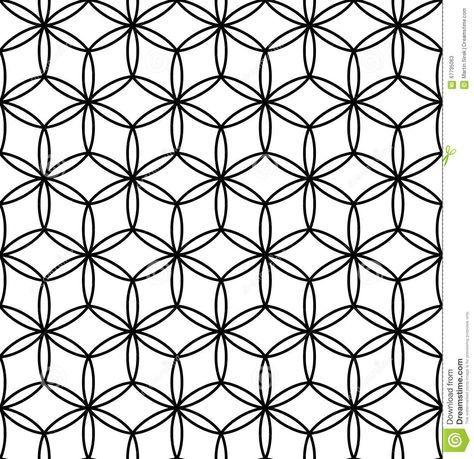 Vector Modern Seamless Sacred Geometry Pattern Flower Of Life Gorgeous Sacred Geometry Patterns
