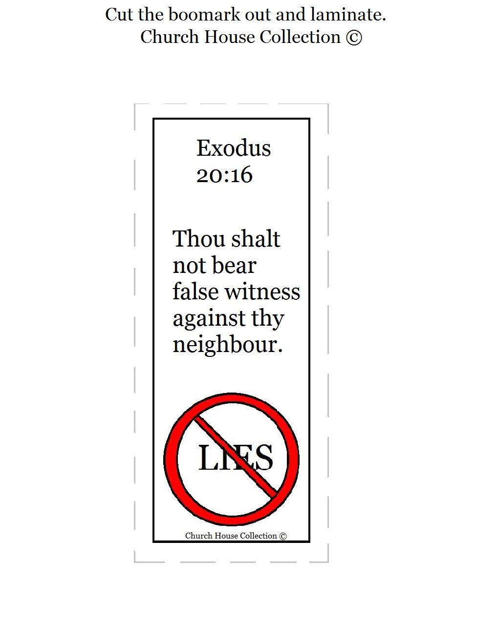 thou shalt not bear false witness against thy neighbor bookmark