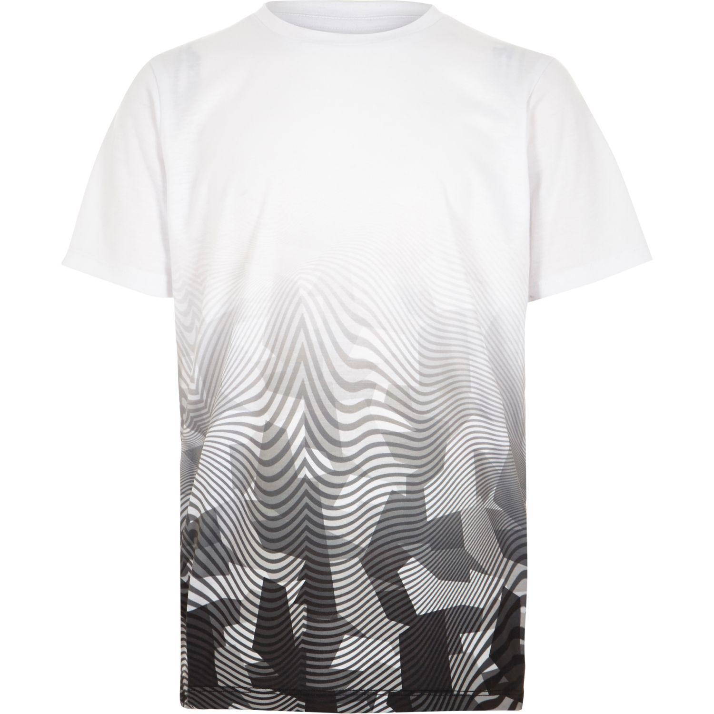 43b2199d Jersey fabric Geometric camo fade print Short sleeve Crew neck ...