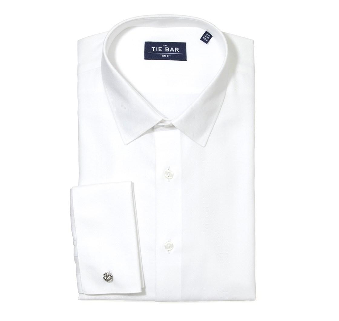 "NEW WHITE MENS DRESS FORMAL WEAR SHIRT STANDARD COLLAR SIZES 20/"" OR 21 /"""