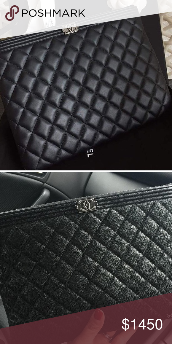 f54190e04958 Chanel Boy Pouch How gorgeous is this pouch, obsessed. Great for everyday,  to