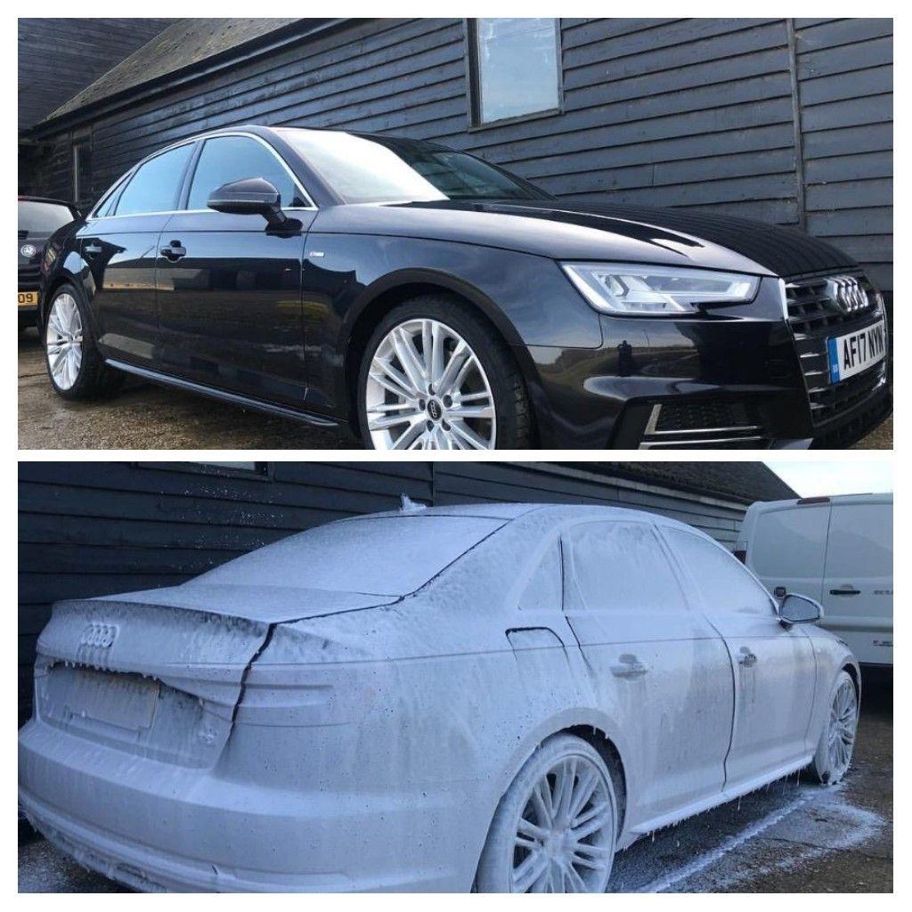 Audi Before & After a Bubble Bath SCL Car Detailing