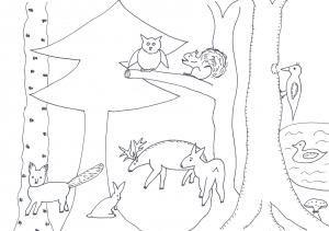 Schablonen 2 Ausmalen Tiere Im Wald Ausmalen Schablonen Wunderbare Enkel