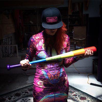 Baseball Bat 33-inch: Rainbow