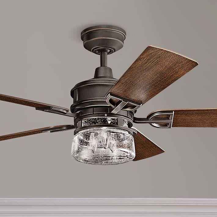 """52"""" Kichler Lyndon Patio Olde Bronze Outdoor Ceiling Fan ..."""