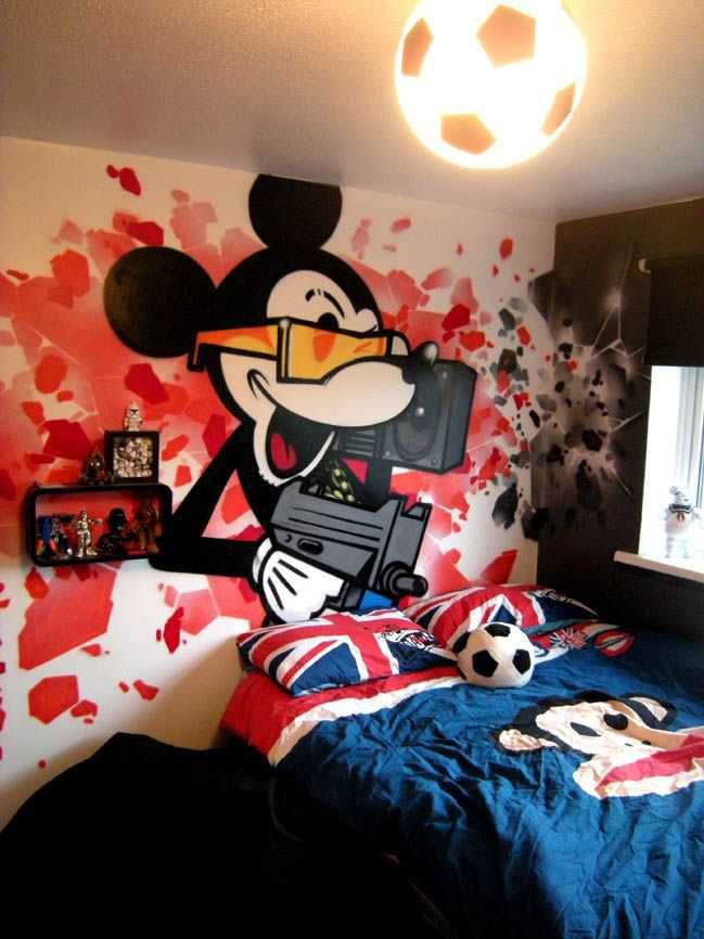 Wallpaper Bedroom Boys Graffiti Wallpaper Graffiti Kings 7558