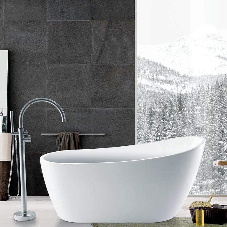60 Radnor Acrylic Slipper Freestanding Tub Free Standing Tub