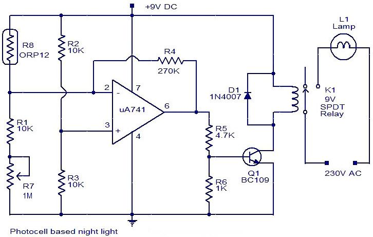 Photocell based # NightLight is uses a photocell for ...