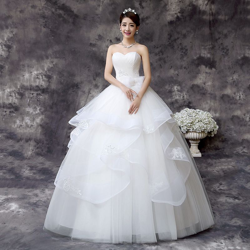 LYG-D64#Wholesale and retail custom wedding bride wedding dress 2017 ...