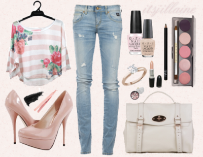 cute tumblr outfits | cute # fashion # floral # pink | Cute ...