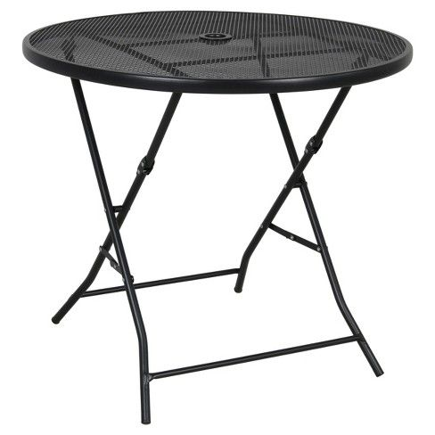 32 Metal Mesh Folding Patio Table
