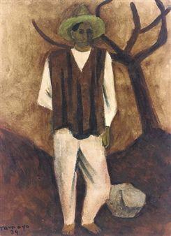 Campesino con sombrero verde By Rufino Tamayo