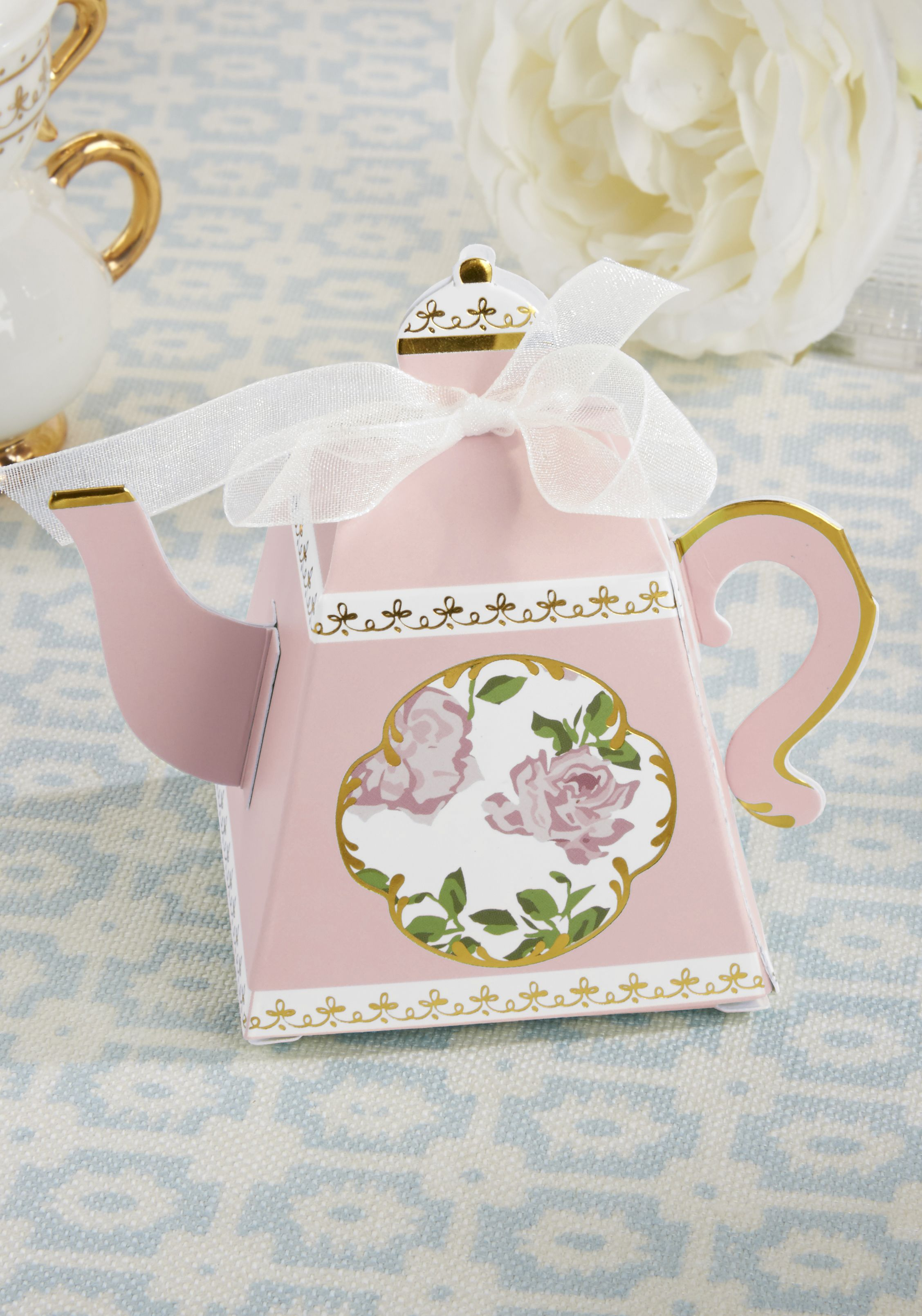 Tea Time Whimsy Teapot Favor Box - Pink (Set of 24) | Tea parties ...