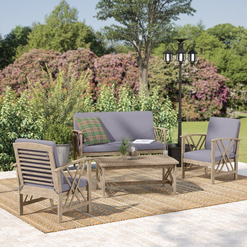 Morgan 4 Piece Sofa Seating Group With Cushions In 2019 Patio