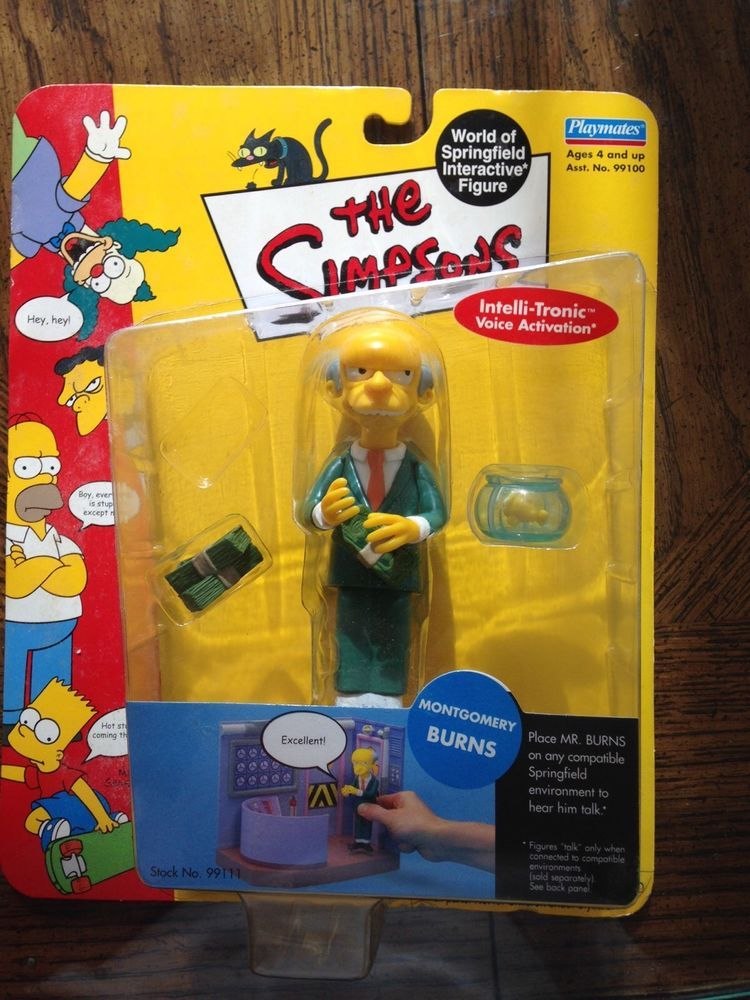 The Simpsons Wave 1-Montgomery Burns-Playmates Action figure