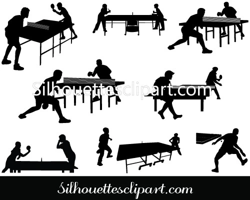 Table Tennis Playing Vector Graphics In 2020 Vector Graphics Graphic Silhouette Clip Art