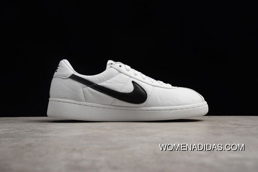 9b1355e812ea Nike Bruin QS Low Retro Casual Leather Skateboard Shoes 842956-101 White  Black-White Free Shipping