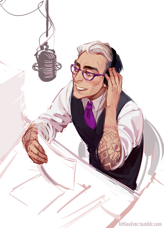 cecil baldwin of welcome to night vale as imagined by its