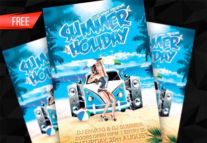 Summer-Holiday-Flyer | adver | Pinterest | Free flyer templates ...