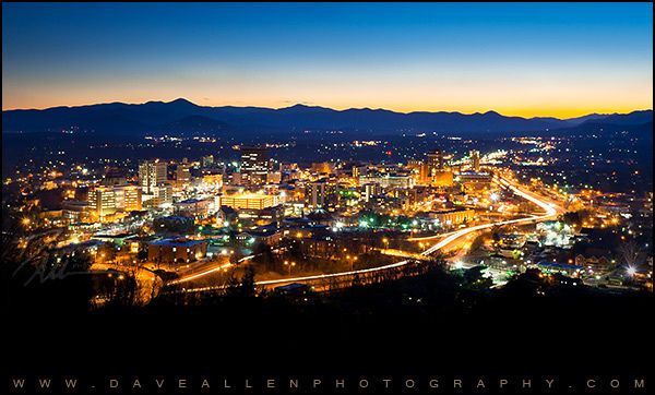 Asheville Nc City Skyline At Night Skyline City Skyline City