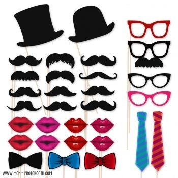 maxi pack photobooth 31 accessoires photobooth pinterest lunettes hipster bouche. Black Bedroom Furniture Sets. Home Design Ideas
