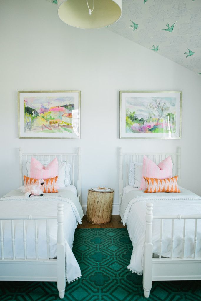 the modern farmhouse project girl's bedroom - house of jade