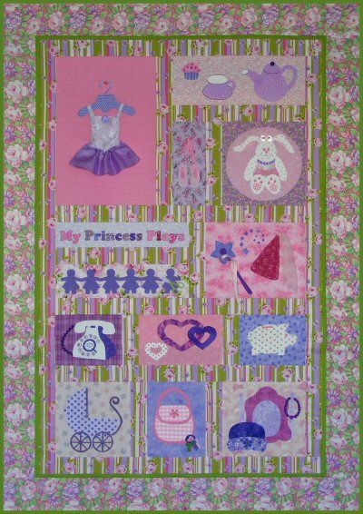 My Princess Plays Quilt Pattern  http://www.victorianaquiltdesigns.com/VictorianaQuilters/PatternPage/MyPrincessPlays/MyPrincessPlays.htm  #quilting #princess