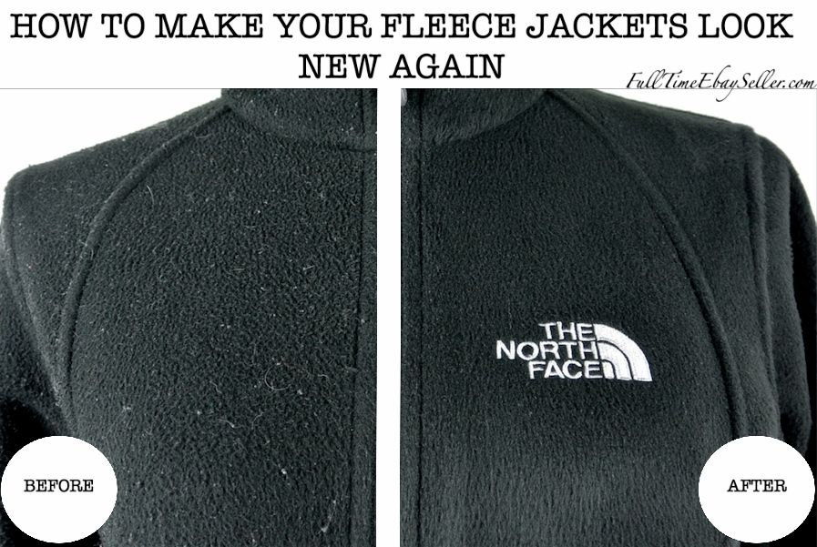 How to remove lint, hair and fabric pills from The North Face Denali fleece jackets. FullTimeEbaySeller.com