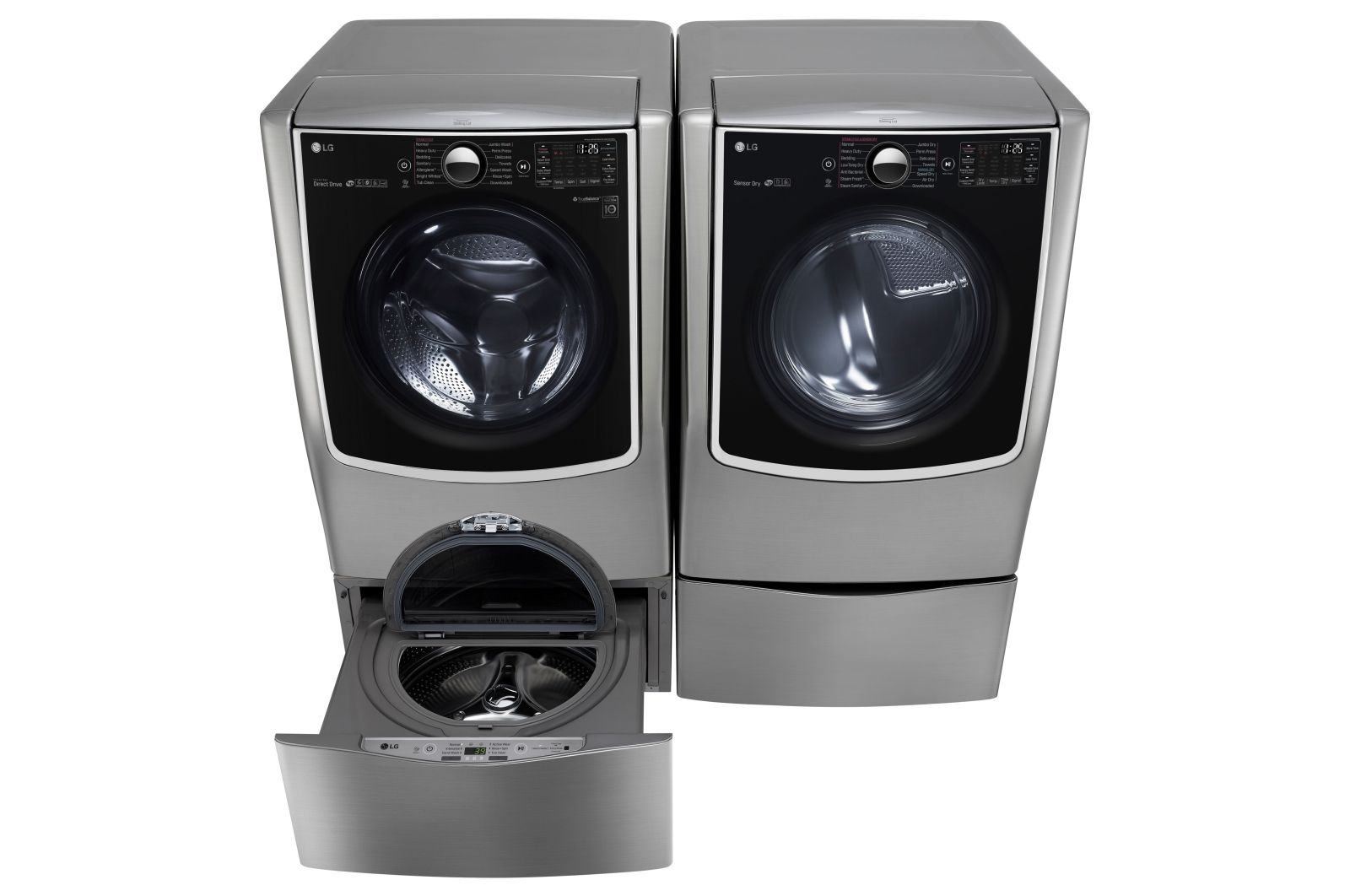 Lg 6 2 Total Capacity Lg Twinwash Bundle With Lg Sidekick And Electric Dryer Bundle Lg Usa Electric Dryers Lg Washer And Dryer Gas Dryer
