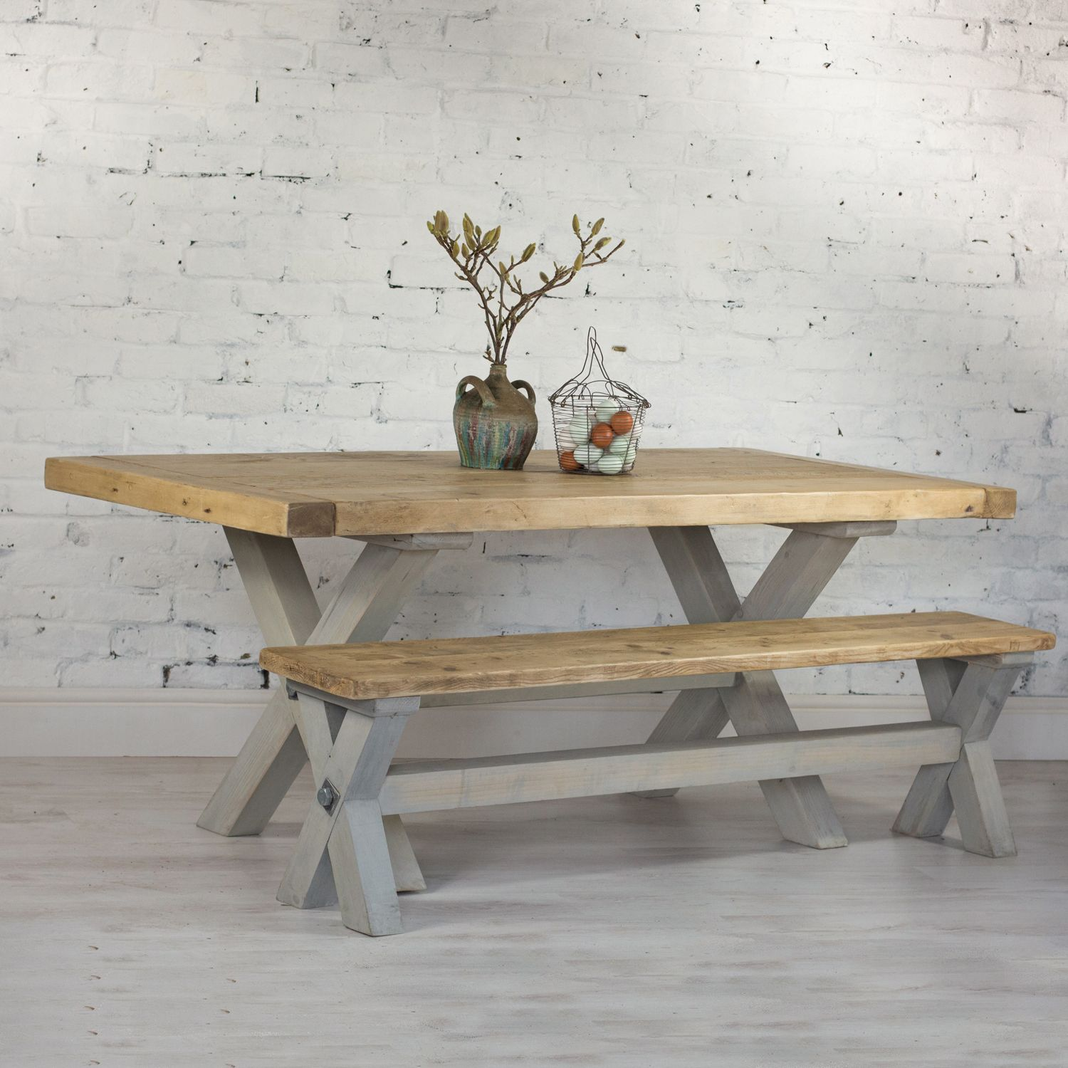 Buy This Amazing... Reclaimed Wood Refectory Dining Table. Beautiful Chunky  Reclaimed Pine Table With Breadboard Ends And Trestle Legs. Hand Made U2026